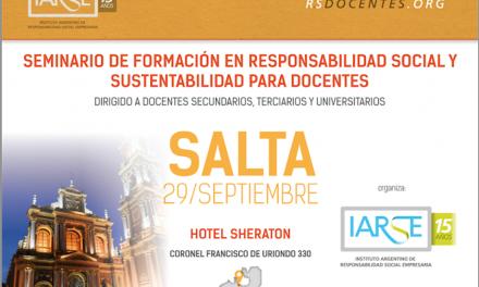 Seminario en Responsabilidad Social y Sustentabilidad para Docentes