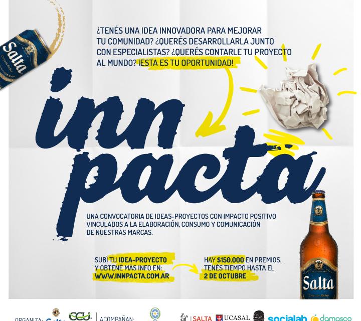Cerveza Salta lanzó INNPACTA, una convocatoria de proyectos sustentables para emprendedores