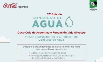 Fundación Vida Silvestre y Coca-Cola de Argentina lanzan la 12° edición del Concurso de Agua.