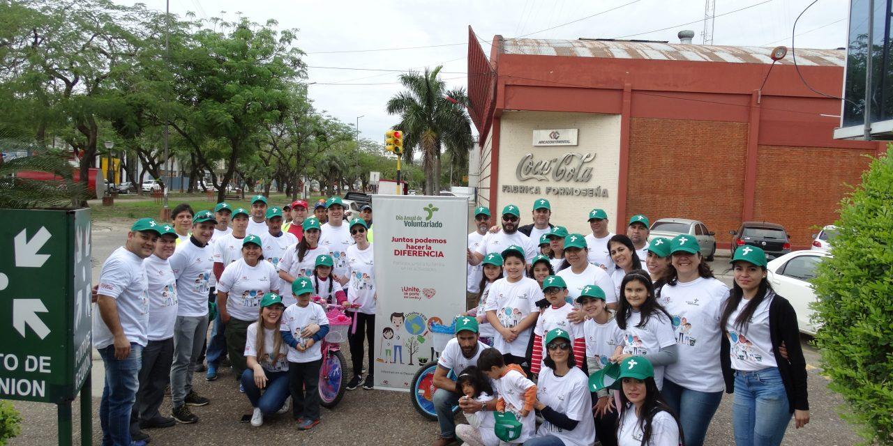 Arca Continental celebra junto a la comunidad el voluntariado corporativo.